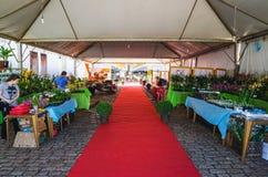 Eingang des Ereignis XIII Festivals tun Soba in Campo großem Mitgliedstaat Stockfoto