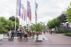 Eingang des Europa-Parks im Rost, Deutschland Lizenzfreies Stockbild