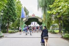 Eingang des Europa-Parks im Rost, Deutschland Lizenzfreie Stockfotos