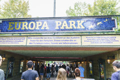 Eingang des Europa-Parks im Rost, Deutschland Lizenzfreies Stockfoto