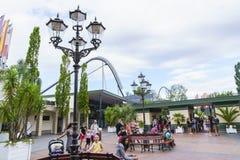 Eingang des Europa-Parks im Rost, Deutschland Lizenzfreie Stockbilder