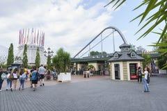 Eingang des Europa-Parks im Rost, Deutschland Stockfotos