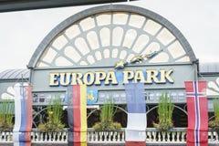Eingang des Europa-Parks im Rost, Deutschland Stockfotografie