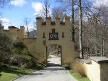 Eingang des Hohenschwangau Schlosses lizenzfreies stockfoto