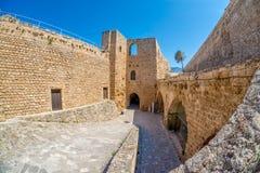 Eingang des mittelalterlichen venetianischen Schlosses in Kyrenia, Zypern Stockfotografie