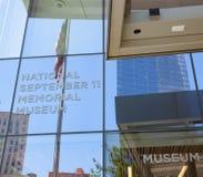Eingang des nationalen Denkmals u. des Museums am 11. September Stockfoto