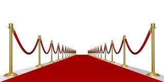 Eingang des roten Teppichs Stockbild