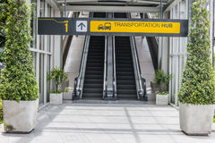 Eingang des Transportaustauschanschlusses lizenzfreies stockfoto