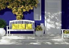 Eingang eines Hauses stockfoto