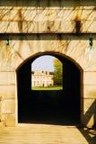 Eingang, Fort Waren stockbilder