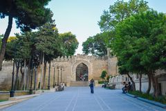 Eingang in Iceri Sheher, Baku-Stadt Stockfotografie