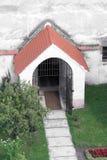 Eingang im alten Cistercian-Benediktinerkloster in Carta, Rumänien lizenzfreies stockfoto