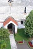 Eingang im alten Cistercian-Benediktinerkloster in Carta, Rumänien lizenzfreie stockfotografie