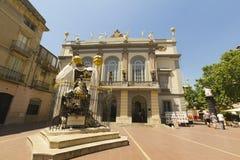 Eingang im Theater und im Museum Dali, Figueres, Spanien. Stockbild