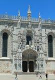 Eingang Jeronimos-Kloster stockbilder