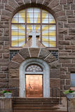 Eingang. Kirche von Raahe (1912) Lizenzfreie Stockfotografie