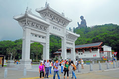 Eingang Kloster zum PO-Lin Lizenzfreie Stockfotos