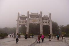 Eingang Kloster zum PO-Lin stockfotografie