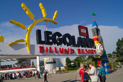 Eingang Legoland Stockfotografie
