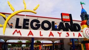 Eingang Legoland Malaysia Stockbilder