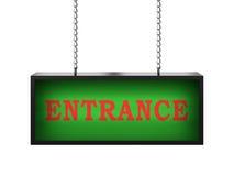 Eingang lightbox Lizenzfreie Stockfotos