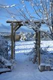 Eingang nach Winter-Märchenland Lizenzfreie Stockfotos