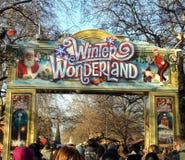 Eingang nach Winter-Märchenland Lizenzfreies Stockfoto