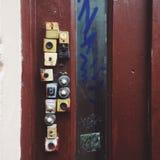 Eingang schellt Tür stockbild