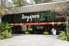 Eingang - Singapur-Zoo, Singapur Stockfotografie