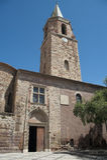 Eingang von frejus Kathedrale Stockbilder