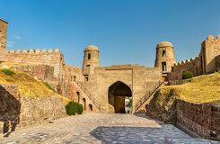 Eingang von Hisor-Festung auf Tadschikistan lizenzfreies stockbild