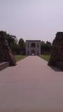 Eingang von Humayuns-Grab in Delhi, Indien lizenzfreie stockbilder