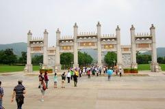 Eingang von Ling Shan, China Stockbilder