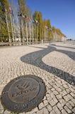Am Eingang von Parque DAS Nações, Lissabon Stockfotografie