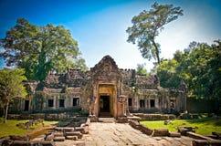 Eingang von Preah Khan Temple, Kambodscha Lizenzfreie Stockfotos