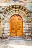 Eingang von Sacra von St Michael, Piemont, Turin, Italien Stockfotos