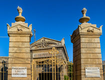 Eingang von St. Paul Catacombs Lizenzfreie Stockbilder