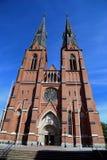 Eingang von Uppsala-Kathedrale Stockbilder