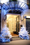 Eingang von Westminster-Hotel in Paris Stockfotos