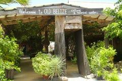 Eingang zu altem Belize-Museum in Belize-Stadt Lizenzfreie Stockbilder