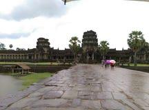 Eingang zu Angkor Wat Lizenzfreie Stockfotografie