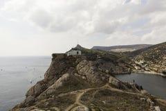 Eingang zu Balaklava-Bucht. Krim. Ukraine lizenzfreies stockfoto