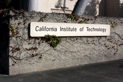 Eingang zu California Institute of Technology in Pasadena, cal Stockfotos