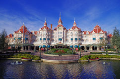 Eingang zu Disneyland Paris Stockbild