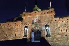 Eingang zu Edinburgh-Schloss stockfotografie