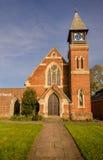 Eingang zu einer lokalen englischen Kirche lizenzfreies stockbild