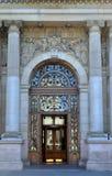 Eingang zu Glasgow City Chambers, Schottland lizenzfreie stockbilder