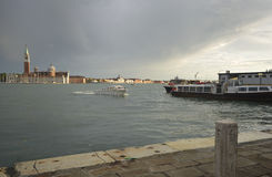 Eingang zu Grand Canal Venedig Lizenzfreie Stockfotografie