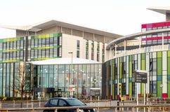 Eingang zu Königen Mill Hospital, Nottingham, England lizenzfreies stockfoto