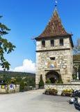 Am Eingang zu Laufer-Schloss lizenzfreies stockbild